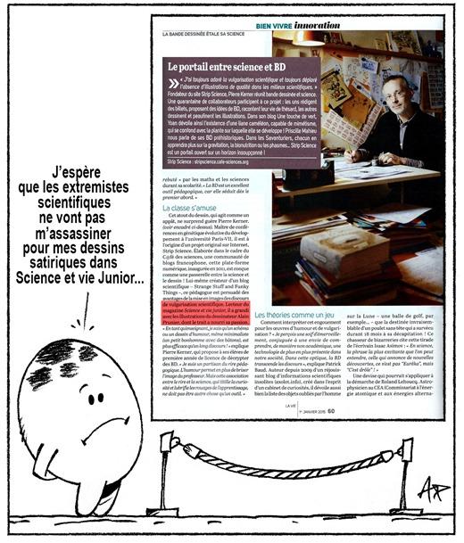 article Pierre dans La vie N°3618 janv 2015 blog