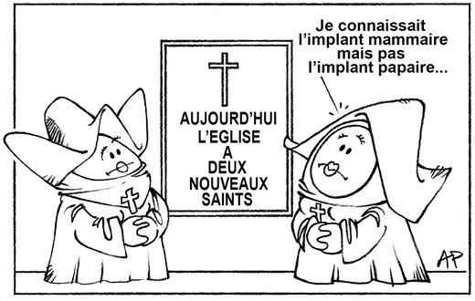 papes canonisés - implant papaire blog